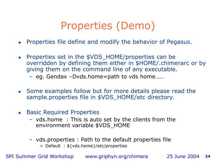 Properties (Demo)