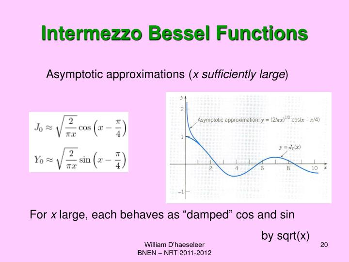 Intermezzo Bessel Functions