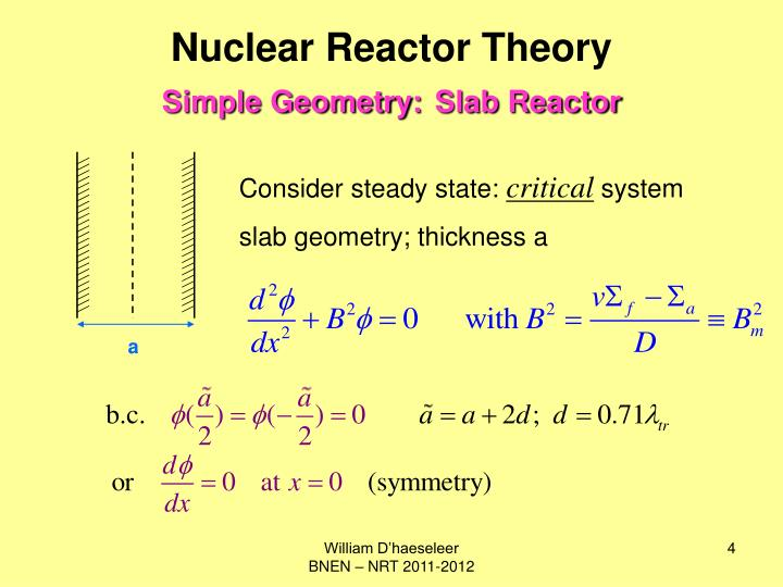Nuclear Reactor Theory