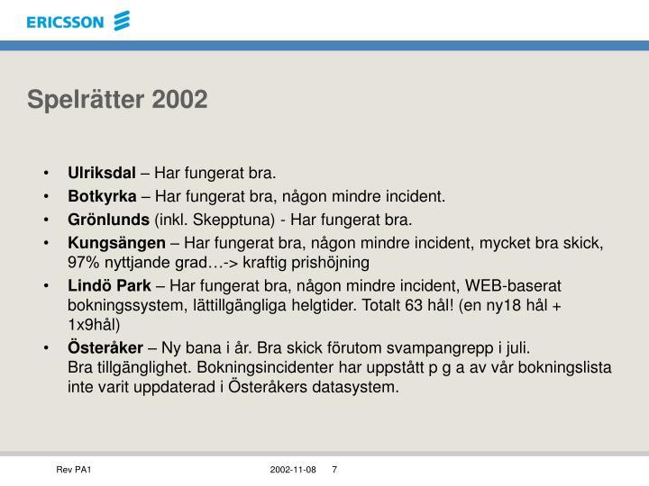 Spelrätter 2002