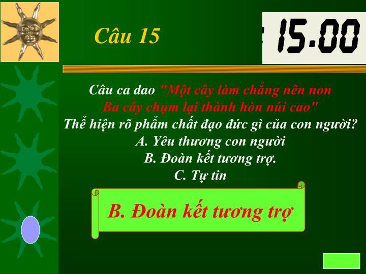 Câu 15