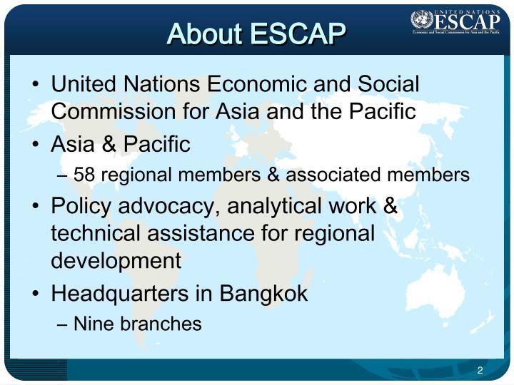 About ESCAP
