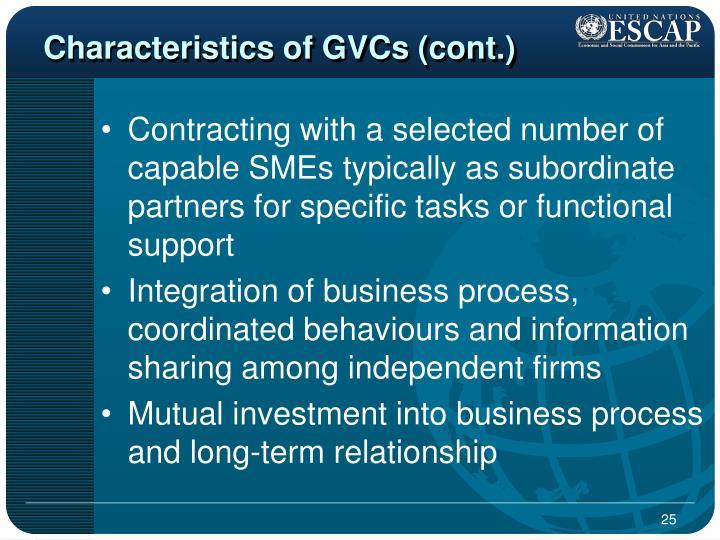 Characteristics of GVCs (cont.)