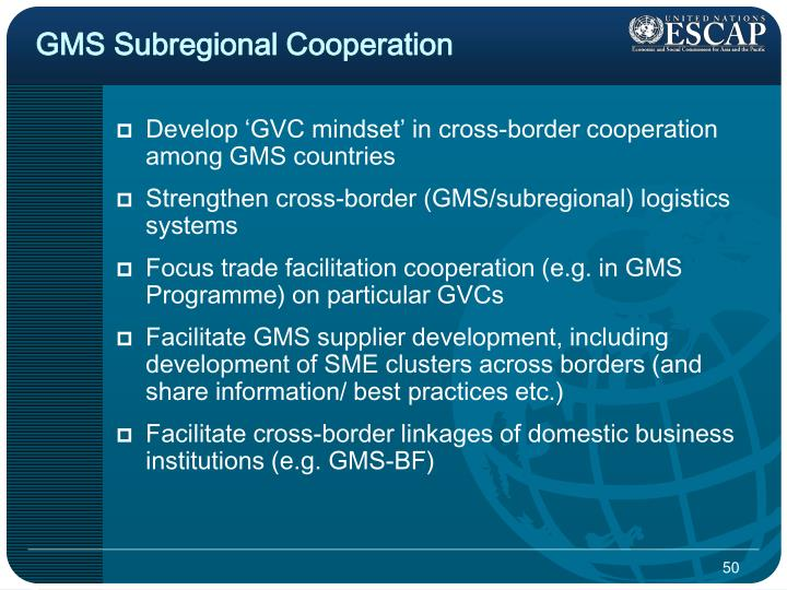GMS Subregional Cooperation