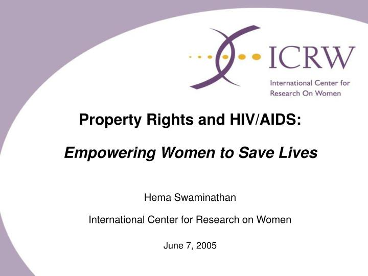 Property Rights and HIV/AIDS: