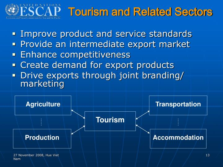 Tourism and Related Sectors