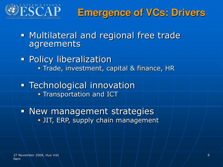 Emergence of VCs: Drivers