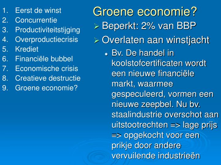 Groene economie?