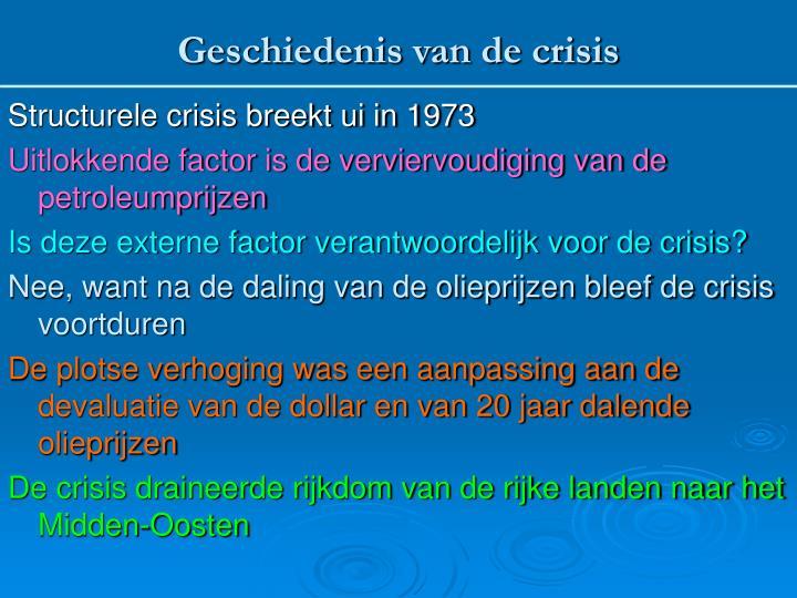 Geschiedenis van de crisis