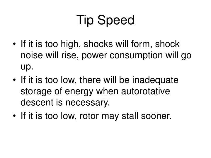 Tip Speed