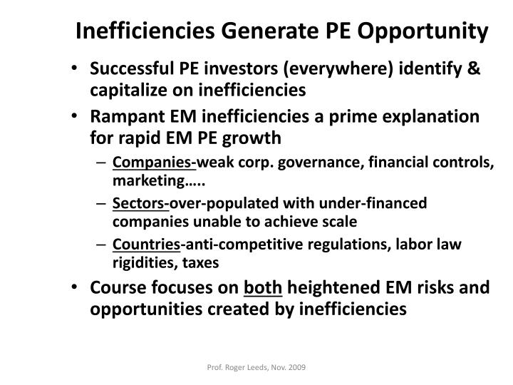 Inefficiencies Generate PE Opportunity