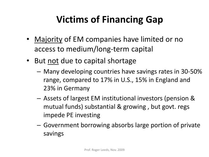 Victims of Financing Gap