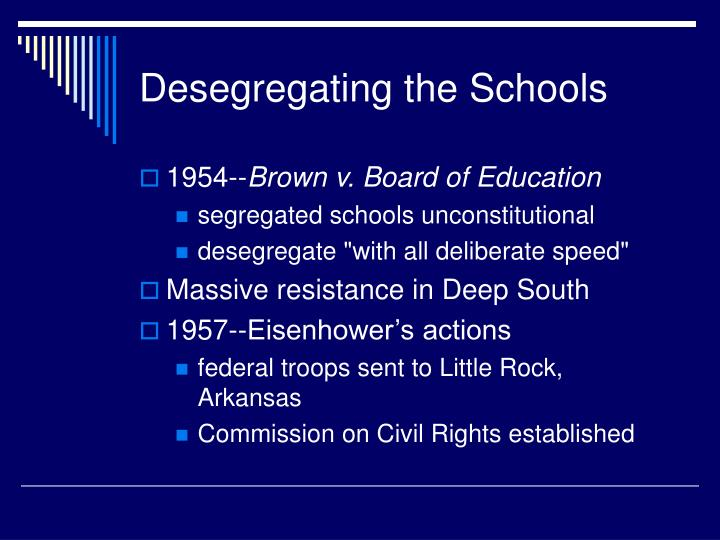 Desegregating the Schools