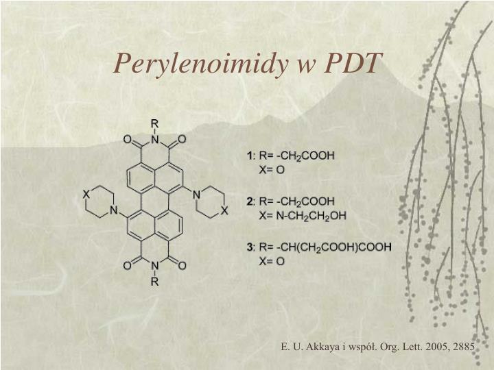 Perylenoimidy w PDT