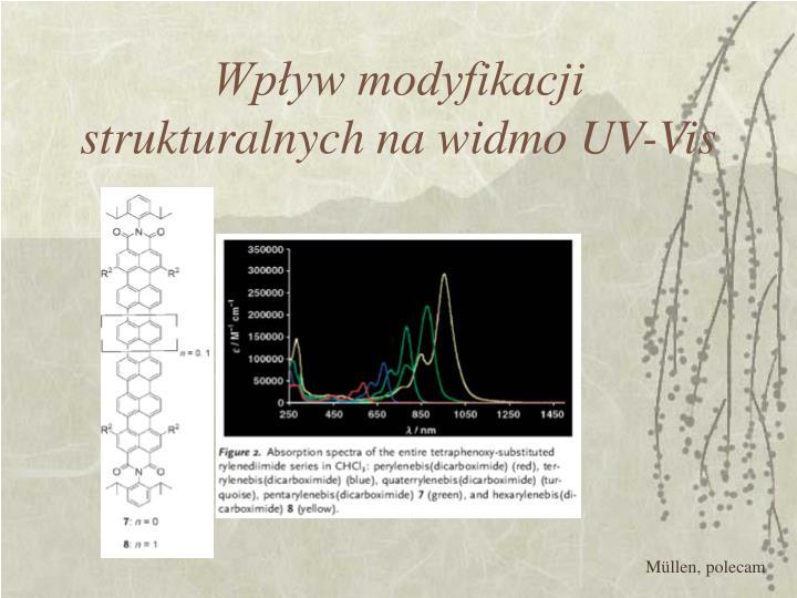 Wpływ modyfikacji strukturalnych na widmo UV-Vis