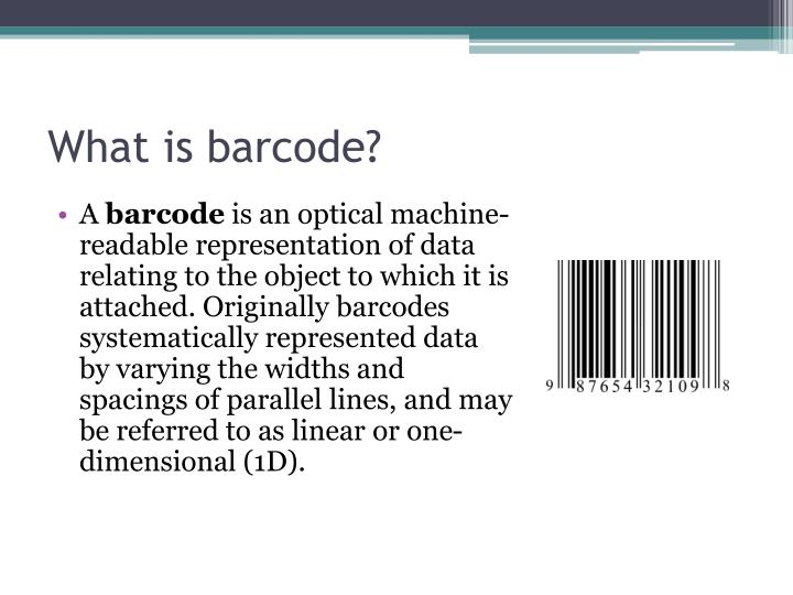 What is barcode