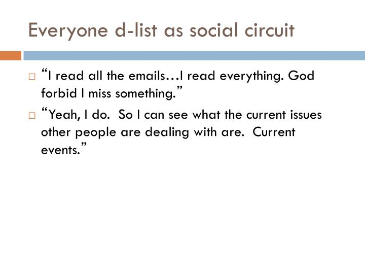 Everyone d-list as social circuit