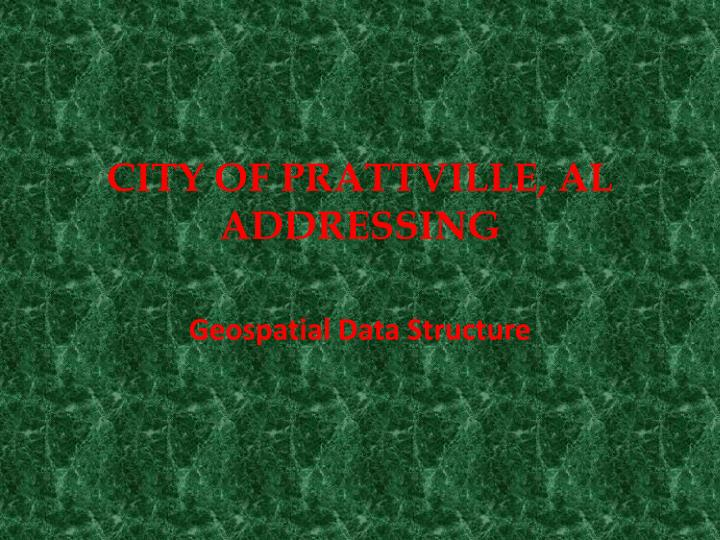 City of prattville al addressing