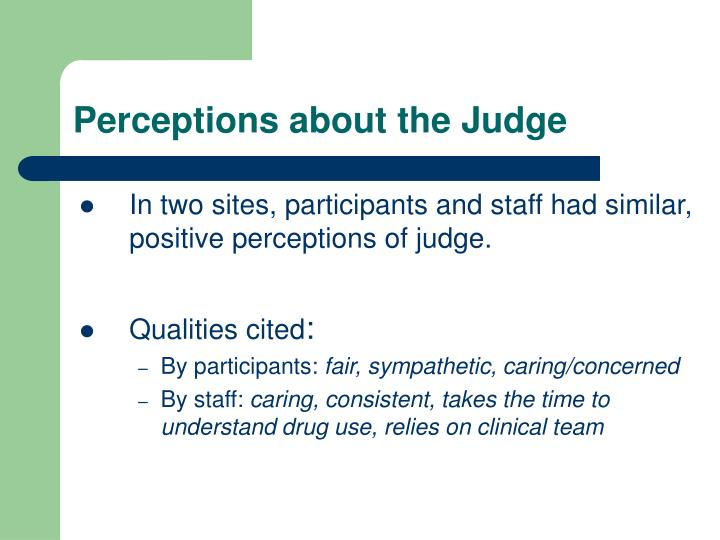 Perceptions about the Judge