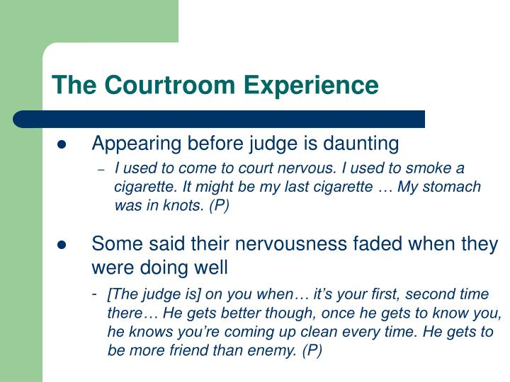 The Courtroom Experience
