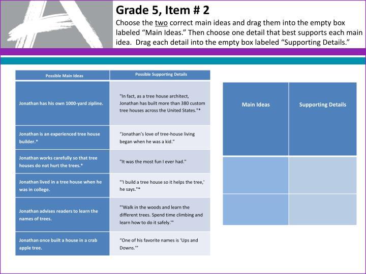 Grade 5, Item # 2