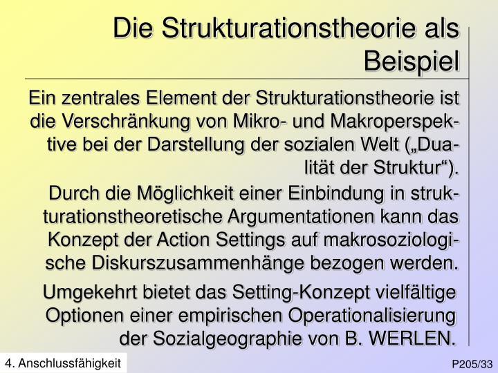 Die Strukturationstheorie als Beispiel