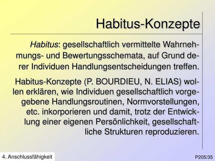 Habitus-Konzepte