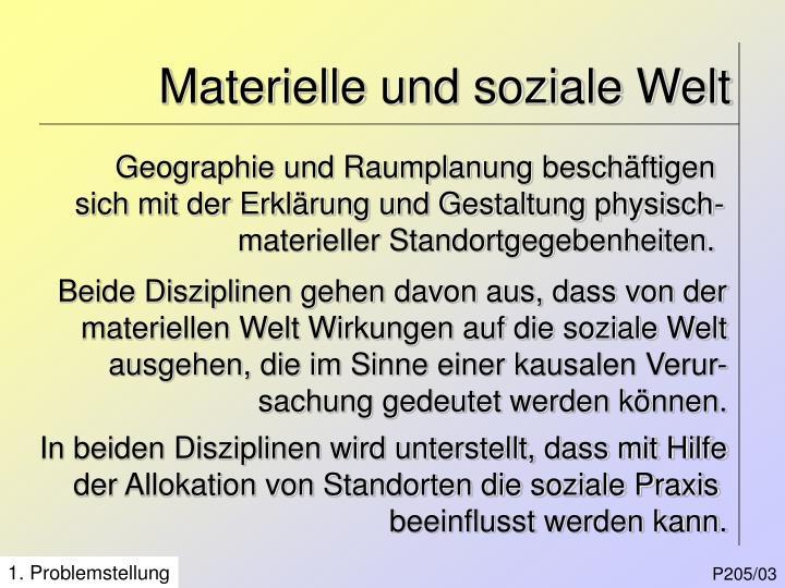 Materielle und soziale Welt