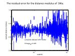 the residual error for the distance modulus of snia