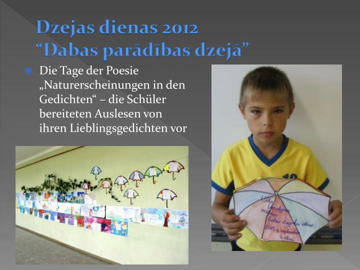 Dzejas dienas 2012