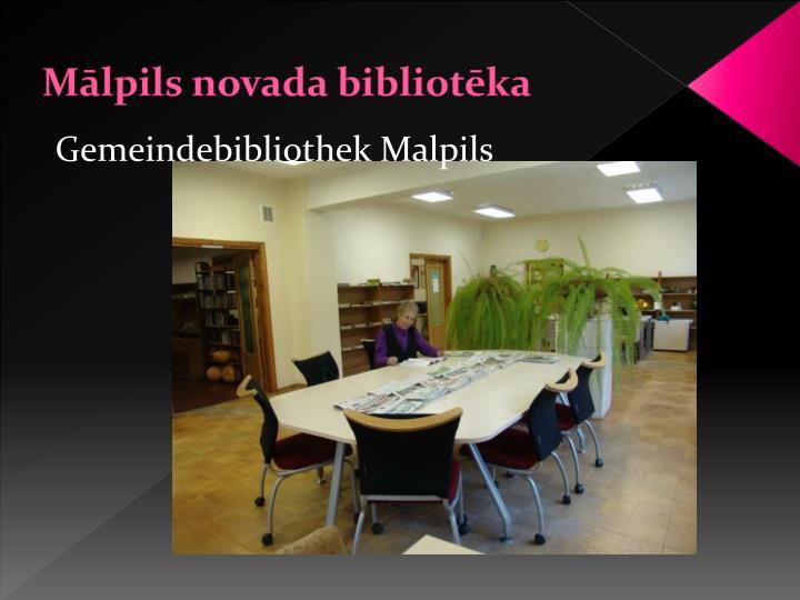 Mālpils novada bibliotēka
