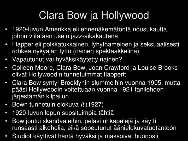 Clara Bow ja Hollywood