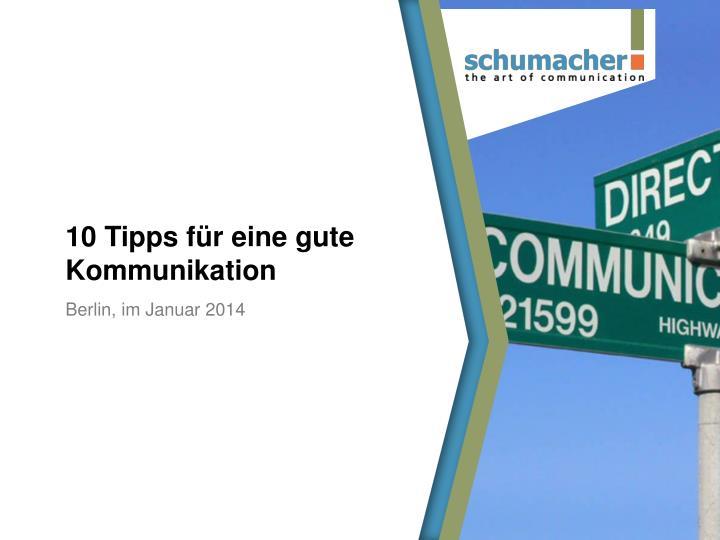 10 Tipps für eine gute Kommunikation