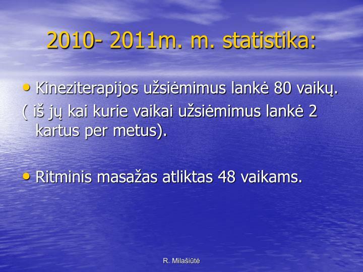 2010- 2011m. m. statistika:
