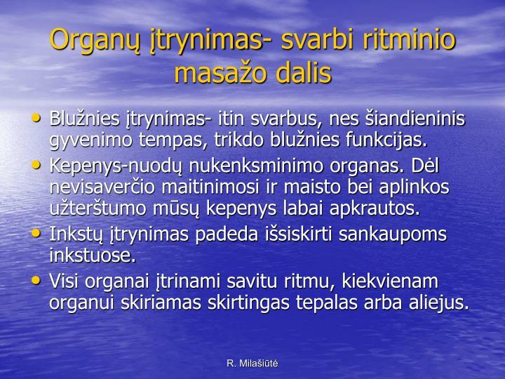 Organų įtrynimas- svarbi ritminio masažo dalis