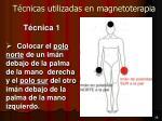t cnicas utilizadas en magnetoterapia
