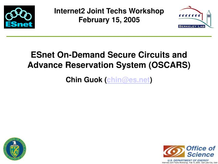 Internet2 Joint Techs Workshop