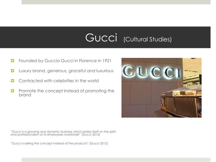 gucci study View lab report - strategic analysis of gucci from fba bba-1203 at american international university bangladesh (campus 1) chapter one.
