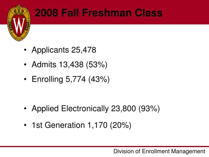 2008 Fall Freshman Class