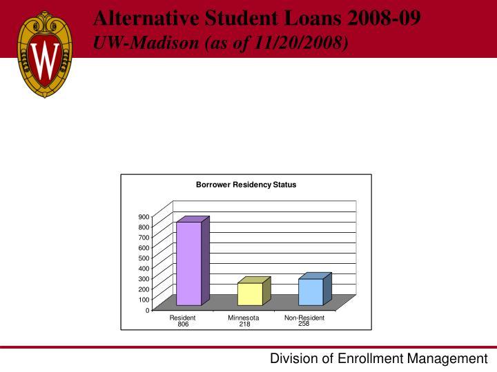 Alternative Student Loans 2008-09