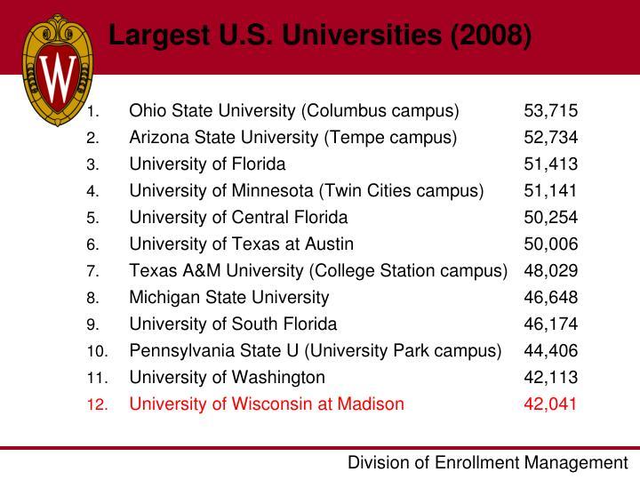 Largest U.S. Universities (2008)