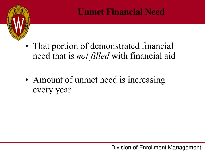 Unmet Financial Need