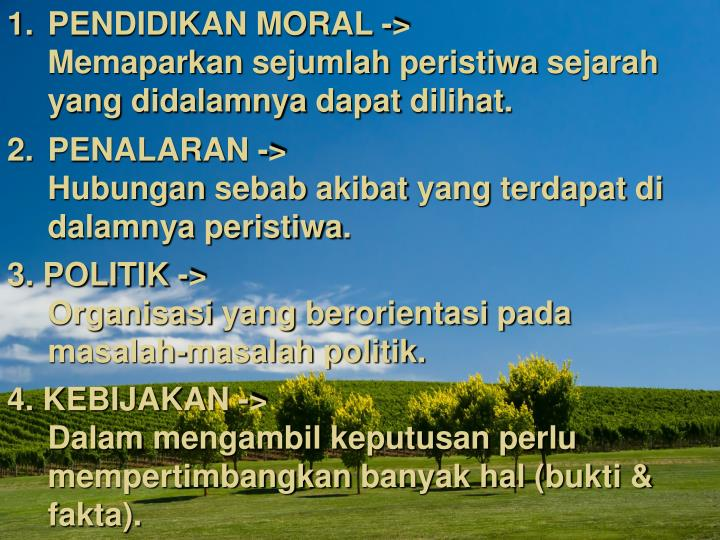 PENDIDIKAN MORAL ->