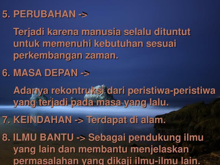 PERUBAHAN ->