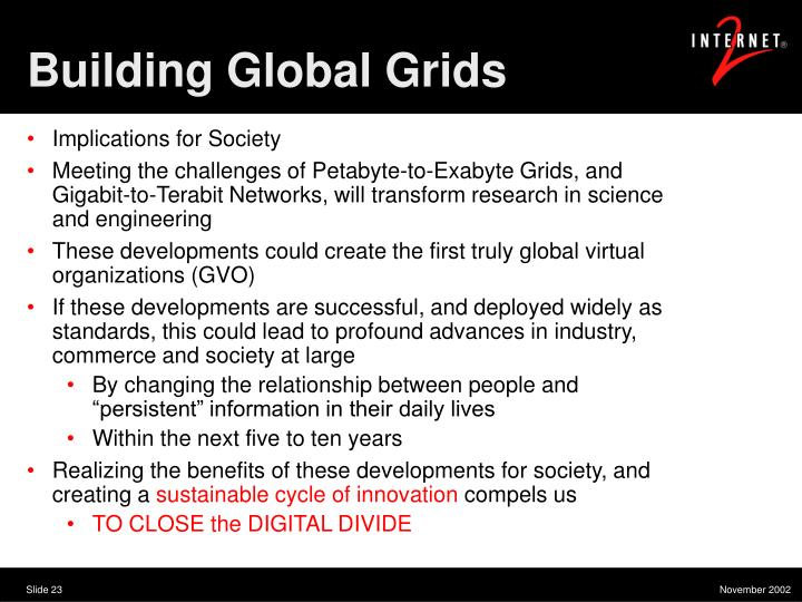 Building Global Grids