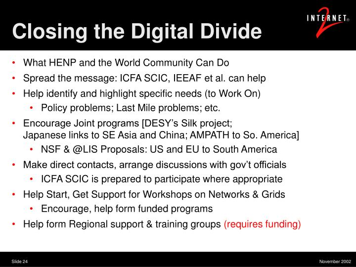Closing the Digital Divide
