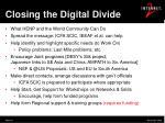 closing the digital divide