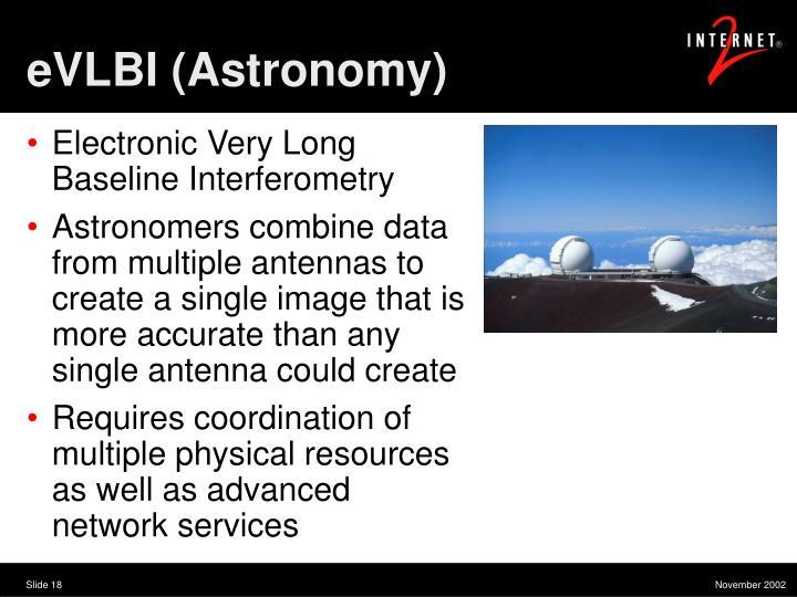 eVLBI (Astronomy)