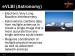 evlbi astronomy