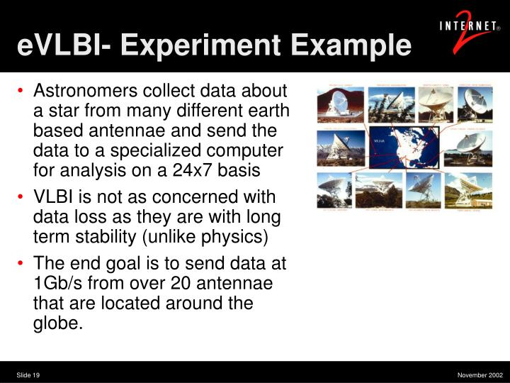 eVLBI- Experiment Example